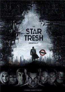 Стар Треш: Шерлок против Робокопа / Star Trek Into Darkness (2014) HDRip | Смешной перевод
